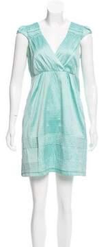 Calypso Silk Sleeveless A-Line Dress