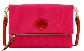 Dooney & Bourke Nylon Foldover Zip Crossbody Shoulder Bag - PINK - STYLE