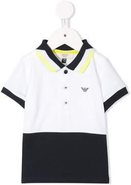Emporio Armani Kids color block polo shirt