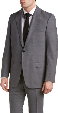 Hart Schaffner Marx Wool-Blend Suit With Flat Front Pant