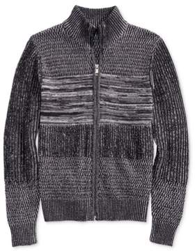 GUESS Mens Full Zip Knit Sweater