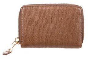 Saint Laurent Leather Card Holder - BROWN - STYLE