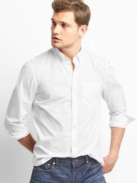 Gap True wash poplin slim fit shirt