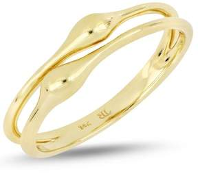 Bony Levy 14K Yellow Gold Teardrop Accent Double Row Ring