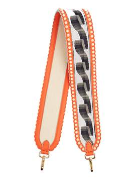 Fendi Strap You ribbon-embroidered leather bag strap