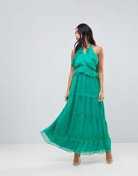 Adelyn Rae Frill Maxi Dress
