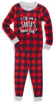 Petit Lem Baby's Two-Piece Team Santa Top and Pants Set
