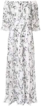 Blumarine off-the-shoulder floral dress