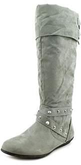 Rampage Womens Batari Faux Fur Closed Toe Mid-calf Fashion Boots.