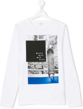 DKNY Teen skateboard photographic print top