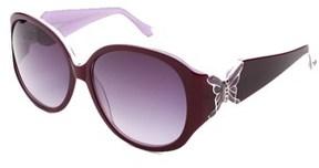 Judith Leiber Women's Butterfly Sunglasses Topaz/ivory.