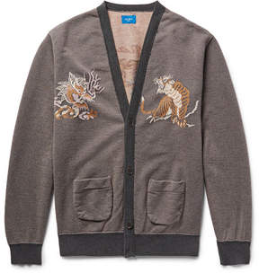 Beams Intarsia Cotton Cardigan