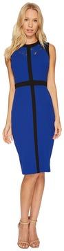 Christin Michaels Dylan Sleeveless Dress with Neck Detail Women's Dress