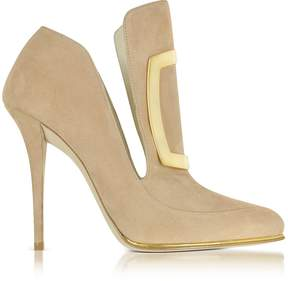 Balmain Desiree Beige Soft Suede Pump