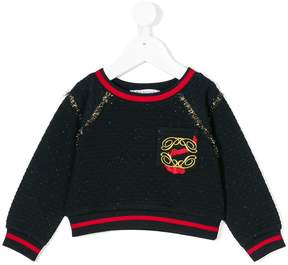 Patrizia Pepe Junior quilted detail sweater