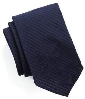 Drakes Drake's Navy Seersucker Tie