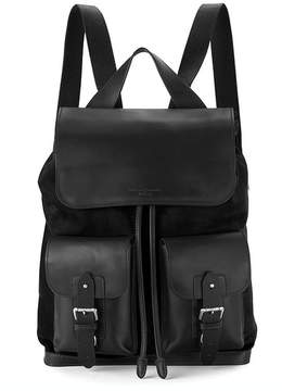 Aspinal of London Shadow Rucksack In Black Nubuck
