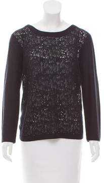 Timo Weiland Open-Knit Long Sleeve Sweater