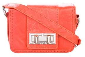 Rebecca Minkoff Leather Turn-Lock Crossbody Bag - ORANGE - STYLE