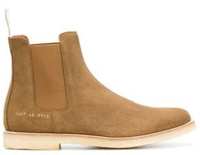 Common Projects Men's Brown Suede Ankle Boots.