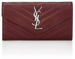 Saint Laurent Women's Monogram Wallet - RED - STYLE
