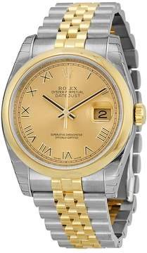 Rolex Datejust 36 Champagne Dial Stainless Steel and 18K Yellow Gold Jubilee Bracelet Automatic Men's Watch