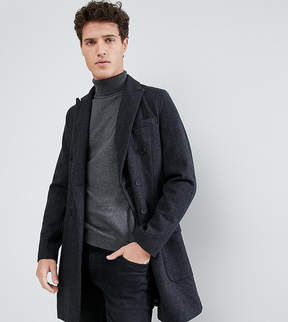 ONLY & SONS Doubled Breasted Overcoat with Check