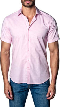 Jared Lang Men's Embroidered Cotton Sportshirt