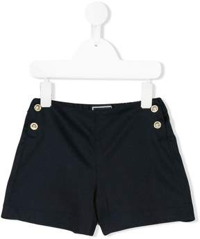 Versace logo button shorts