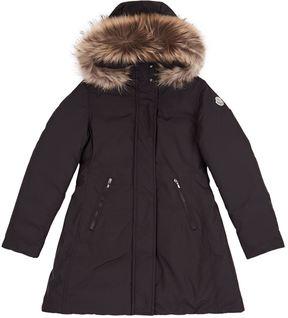 Moncler Chinue Fur Trim Coat