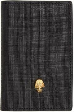Alexander McQueen Black and Gold Skull Pocket Organizer