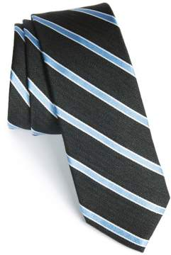 1901 Men's 'Smoak' Stripe Woven Silk & Cotton Tie
