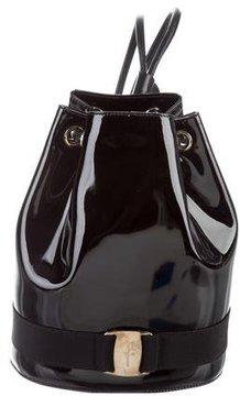 Salvatore Ferragamo Patent Leather Drawstring Backpack
