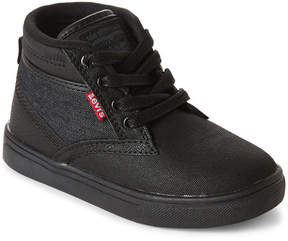 Levi's Toddler/Kids Boys) Black Sycamore Casual High Top Sneakers