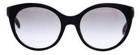Prada Tortoiseshell-Trimmed Cat-Eye Sunglasses