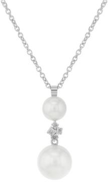 Damiani 18K White Gold Pearls & Diamonds Pendant Necklace