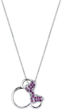 Disney Sterling Silver Minnie Mouse Pendant with Ruby and Diamond Accents