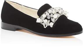 Bettye Muller Women's Revel Embellished Velvet Loafers