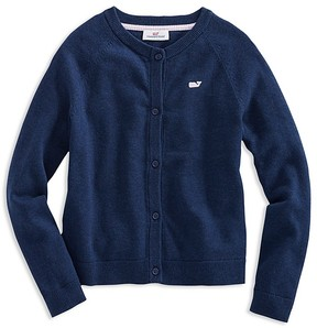 Vineyard Vines Girls' Raglan Cotton Cardigan - Little Kid