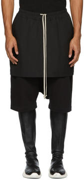 Rick Owens Black Kilt Pods Shorts