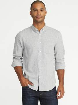 Old Navy Slim-Fit Herringbone Linen-Blend Classic Shirt for Men