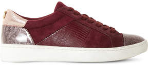 Dune Egypt suede and leather trainers
