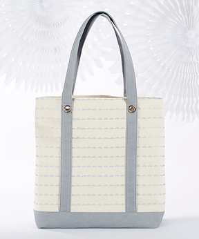 Silver Scallop Canvas Tote Bag