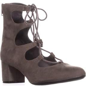 Bar III B35 Percy Lace-up Sandals, Grey.