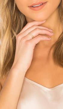 Ef Collection Half Diamond Chain Link Ring