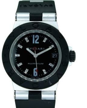 Bulgari Bvlgari Diagono Aluminium Diamond Rubber 32mm Watch