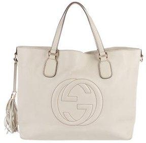 Gucci Large Soho Tote - WHITE - STYLE