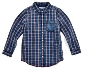 GUESS Boy's Plaid Shirt (2-7)