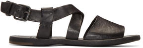 Officine Creative Black Culatta 12 Sandals