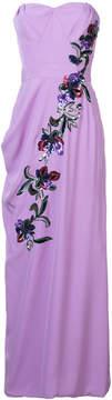 Carolina Herrera floral embellished column gown